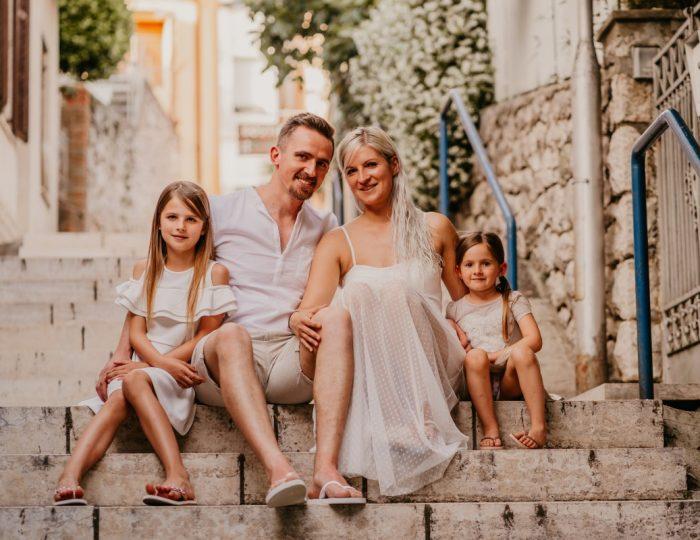 Družinsko fotografiranje – Crikvenica, Hrvaška
